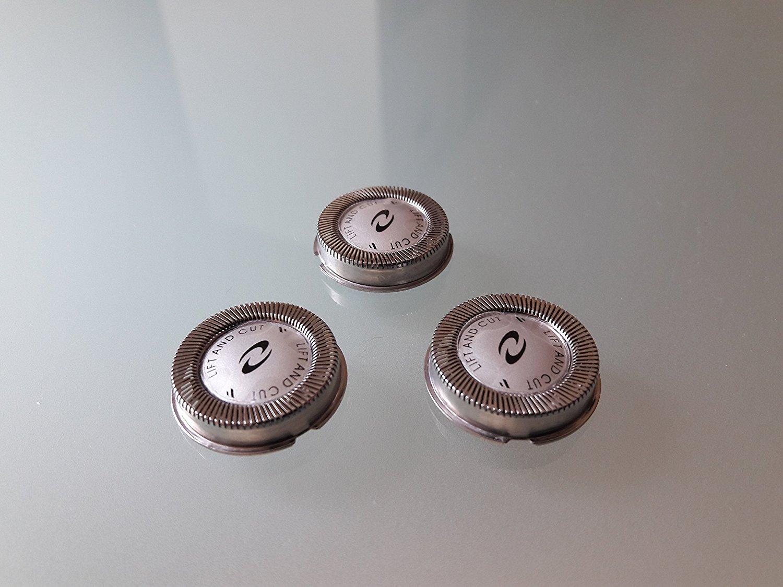 Pack 3 uds cabezales cortadores cuchillas de afeitar de reemplazo Enova  para Philips 45d1ed77b625