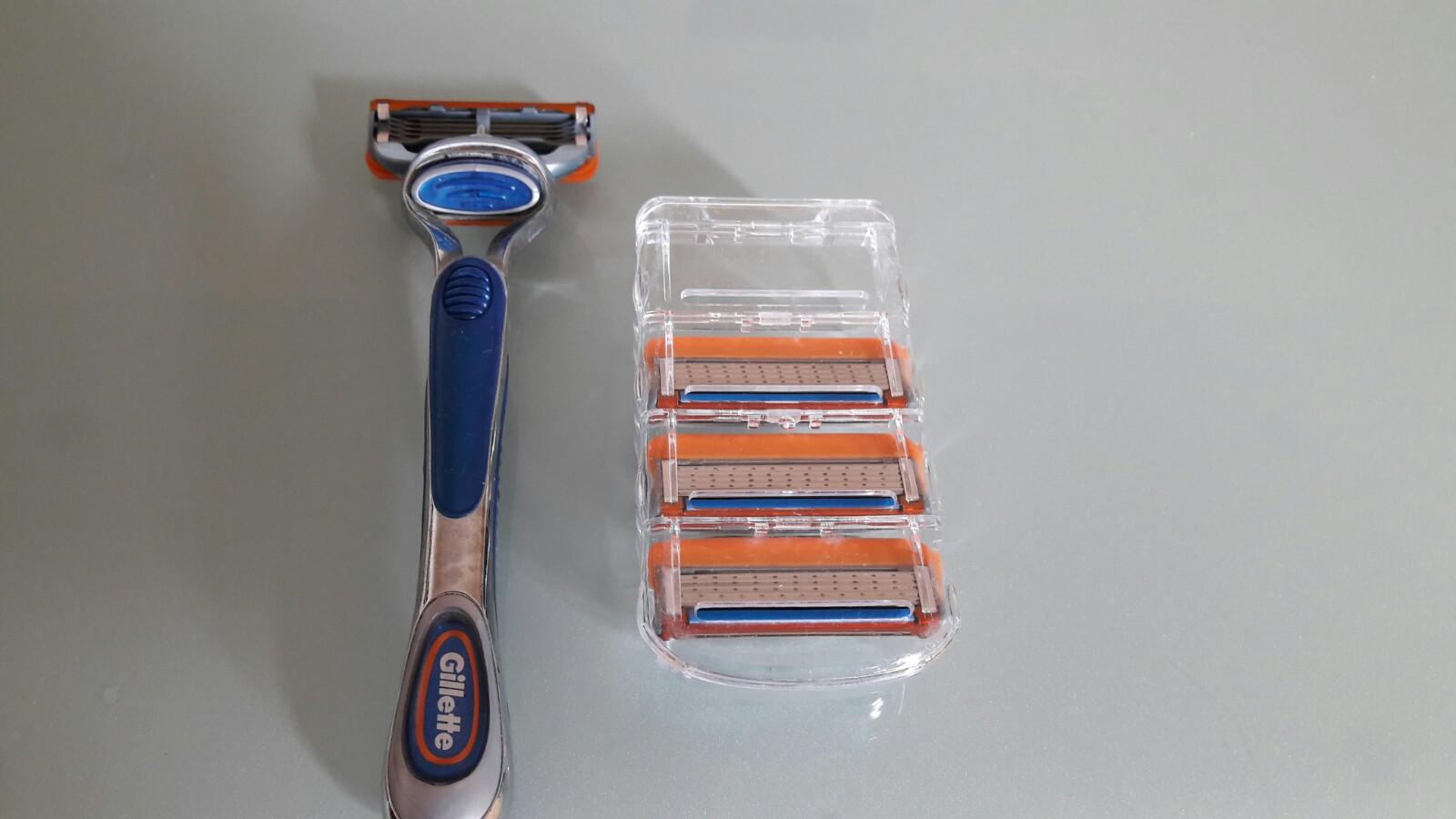 Pack 4 uds hojas cortadores cuchillas de afeitar de reemplazo Enova para  máquinas de Gillette modelos Fusion 1db8dd116e6f